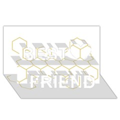 Honeycomb Pattern Graphic Design Best Friends 3d Greeting Card (8x4) by picsaspassion