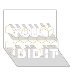 Honeycomb Pattern Graphic Design You Did It 3d Greeting Card (7x5)