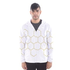Honeycomb Pattern Graphic Design Hooded Wind Breaker (men) by picsaspassion