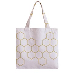 Honeycomb Pattern Graphic Design Zipper Grocery Tote Bag by picsaspassion