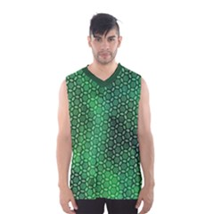 Green Abstract Forest Men s Basketball Tank Top