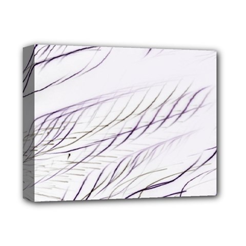 Lilac Stripes Deluxe Canvas 14  X 11  by picsaspassion