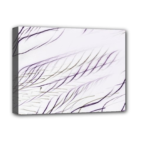Lilac Stripes Deluxe Canvas 16  X 12   by picsaspassion