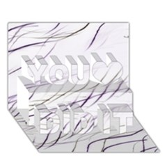 Lilac Stripes You Did It 3d Greeting Card (7x5)