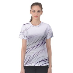 Lilac Stripes Women s Sport Mesh Tee by picsaspassion