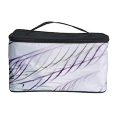 Lilac Stripes Cosmetic Storage Case by picsaspassion