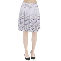 Lilac Stripes Pleated Skirt by picsaspassion