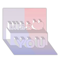 Colorful Colors Miss You 3d Greeting Card (7x5) by picsaspassion
