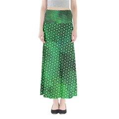 Green Abstract Forest Women s Maxi Skirt