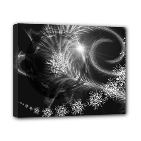 Silver Feather And Ball Decoration Canvas 10  X 8  by picsaspassion