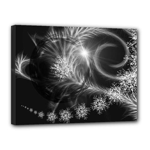 Silver Feather And Ball Decoration Canvas 16  X 12  by picsaspassion