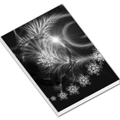 Silver Feather And Ball Decoration Large Memo Pads by picsaspassion