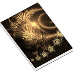 Golden Feather And Ball Decoration Large Memo Pads by picsaspassion