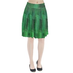 Green Abstract Forest Pleated Skirt
