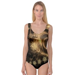 Golden Feather And Ball Decoration Princess Tank Leotard  by picsaspassion