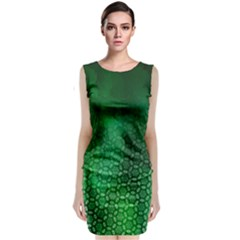 Ombre Green Abstract Forest Classic Sleeveless Midi Dress