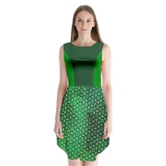 Green Abstract Forest Sleeveless Chiffon Dress