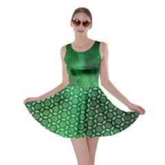 Ombre Green Abstract Forest Skater Dress