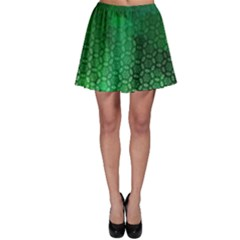 Ombre Green Abstract Forest Skater Skirt