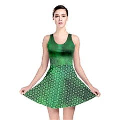 Ombre Green Abstract Forest Reversible Skater Dress by DanaeStudio