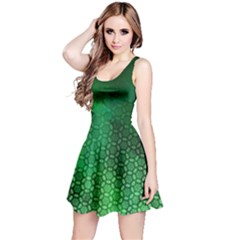 Ombre Green Abstract Forest Reversible Sleeveless Dress