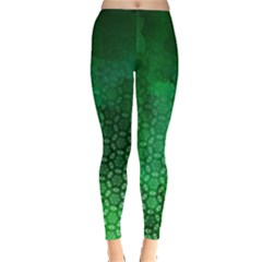Ombre Green Abstract Forest Leggings