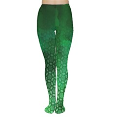 Ombre Green Abstract Forest Tights by DanaeStudio