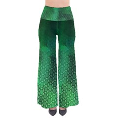 Ombre Green Abstract Forest Women s Chic Palazzo Pants