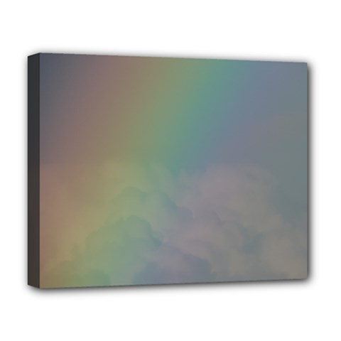 Between The Rainbow Deluxe Canvas 20  X 16   by picsaspassion