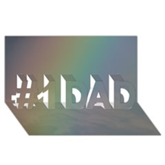 Between The Rainbow #1 Dad 3d Greeting Card (8x4) by picsaspassion