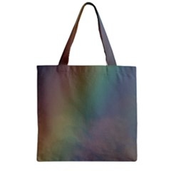 Between The Rainbow Zipper Grocery Tote Bag by picsaspassion