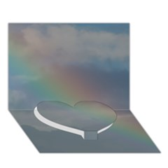 Rainbow In The Sky Heart Bottom 3d Greeting Card (7x5) by picsaspassion