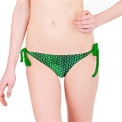 Green Abstract Forest Bikini Bottom