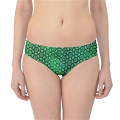 Green Abstract Forest Hipster Bikini Bottoms