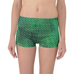 Green Abstract Forest Reversible Boyleg Bikini Bottoms