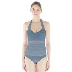Colorful Rainbow Halter Swimsuit by picsaspassion