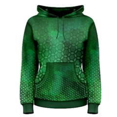 Ombre Green Abstract Forest Women s Pullover Hoodie