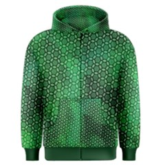 Green Abstract Forest Men s Zipper Hoodie