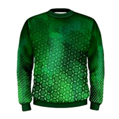 Ombre Green Abstract Forest Men s Sweatshirt