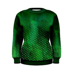Ombre Green Abstract Forest Women s Sweatshirt by DanaeStudio