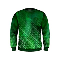 Ombre Green Abstract Forest Kids  Sweatshirt
