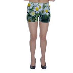 White summer flowers, watercolor painting Skinny Shorts by picsaspassion