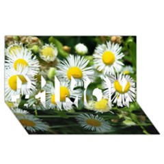 White Summer Flowers Oil Painting Art #1 Mom 3d Greeting Cards (8x4) by picsaspassion