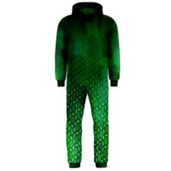 Ombre Green Abstract Forest Hooded Jumpsuit (men) by DanaeStudio