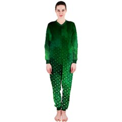 Ombre Green Abstract Forest Onepiece Jumpsuit (ladies)