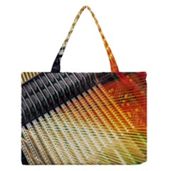 Technology Circuit Medium Zipper Tote Bag by Zeze