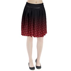 Ombre Black And Red Passion Floral Pattern Pleated Skirt by DanaeStudio