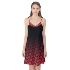 Ombre Black And Red Passion Floral Pattern Camis Nightgown
