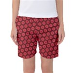 Red Passion Floral Pattern Women s Basketball Shorts