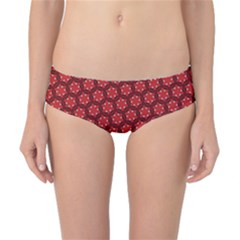 Red Passion Floral Pattern Classic Bikini Bottoms